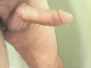 Hubbies cock dripping precum after tributing a favorite zoig friend.