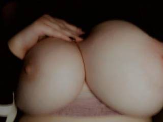 Waiting for you to come and suck on these hard nipples