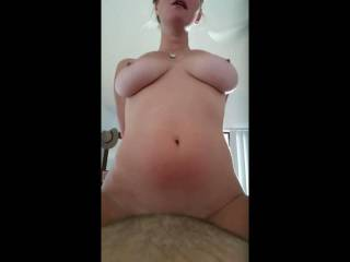 part 4 of a big fuck session she is on top in this one with my thumb in her ass!