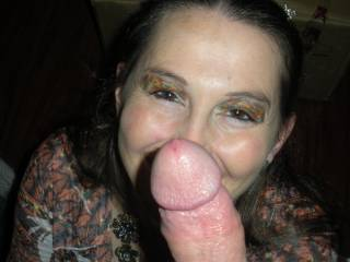 Hmmm looks like my cock. I bet I'd have remembered that face with my cock in the mouth though so let's see if we can duplicate that picture