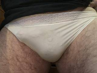 Panties sent from a zoig member for me to play in...... very sexy