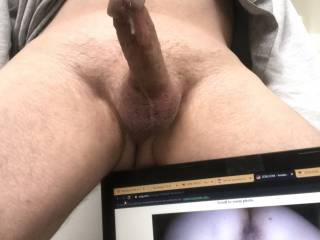 3 of 3 tribute for Wave111111. I am thinking how good it would feel to ease my hard cock inside your silky smooth wet pussy from behind while your little asshole is winking at me and your girl smells are filling the air. Mmm see the precum flow now!!