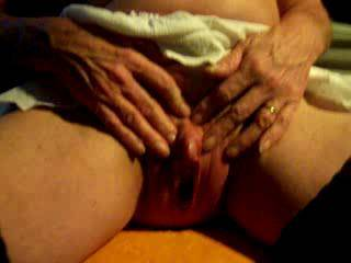 stroking my big clit