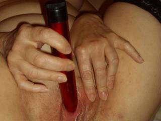 Hell yes, i could lick your clit at the same time you've got your virbrator on it, and then i could lick your juices out of your pussy, before sliding my cock in, while you still work your clit... any good?