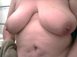 Yes love your awesome tits love to cum all over those gorgeous tits.