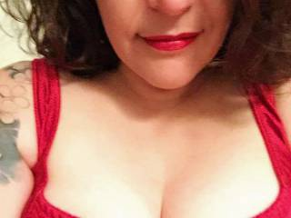 Hot wife's selfshot red lingerie