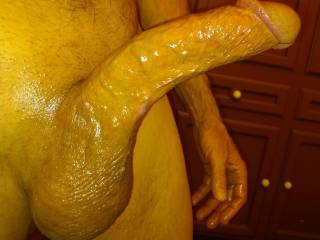 Had just got out of shower and was very aroused after shaving my cock. Hope you all like my pic.
