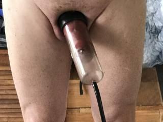 Bit more pumping to get even bigger foreskin