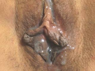 Would love to add my hot load to that creampied pussy and K can lick it clean