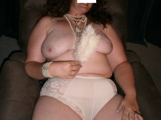 Beautiful panty and lovely body and boobs.  Wish I could play with you and your panties.
