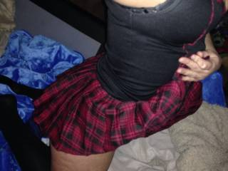 Sexy girlfriend dressed up for naughty fun