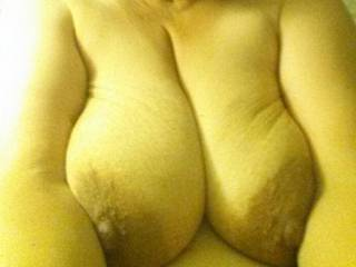 Very, very nice! Large, soft, big nipples! just perfect for sucking on! If you are interested in having your tits gently caressed and sucked by someone new, let me know.