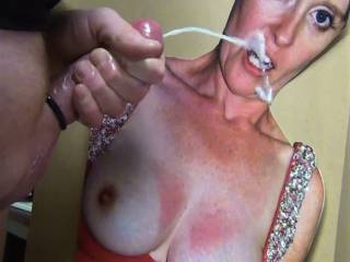 Shooting my cum on smee69\'s pretty face!