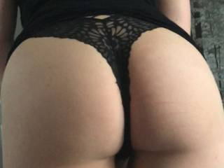 My ass for you .if you wanna see me bounce it shake it then spread my ass cheeks for a great POV of my asshole the video from which this foto is from Is in our private uploads....myphatassgfj