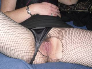 your hot wifes pussie looks might hot from here.mmm   Id love to cum and tease her clit,and see how wet i could get her..xxxx