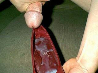 i fucked my friend judys shoes and left her two loads of cum in them
