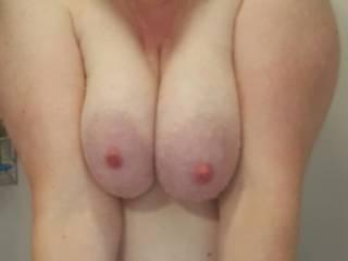 Suck on them or titty fuck hmmmmm.  Ok titty fuck it is!