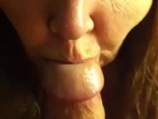 Wife sucking my cock and telling me how she wants another cock fucking her