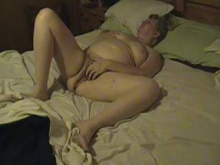 Kim relaxing after getting fucked.