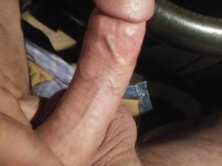 Just pulled out of hornymnmom\'s hot pussy, now it\'s time to hop in the back seat and really give it to her!
