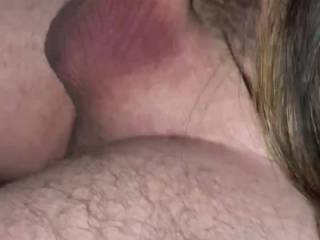 T sucking the cum out of my cock after getting fingered