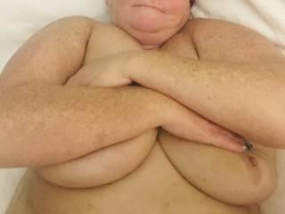 Her big natural BBW tits
