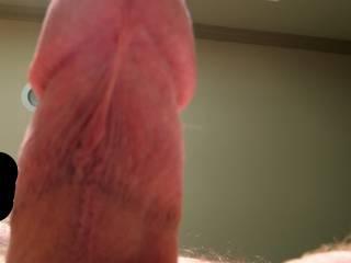 Hubby and his nice hard stiff dick!  Ummmm...he makes me horny!