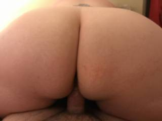 Wife riding my cock reverse cowgirl