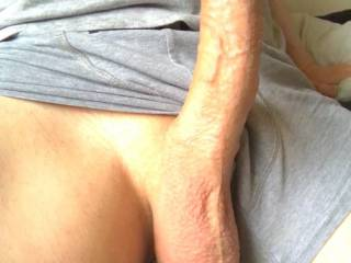 My curved hard dick