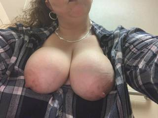 Daily work pic of My Big Nipples that need Slow Licks from Big Dicks