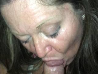Cathy sucking my cock