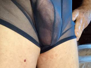 I put on some sexy undies to pose for a friend. She likes to get photos at work. Then she gets horny and sends me some photos. I may send a video.