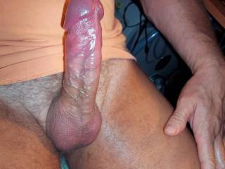 FUCK!  That is such a pretty, delicious hot cock.  I'd love to sit on it and ride you to orgasm.....or suck it to orgasm.  K