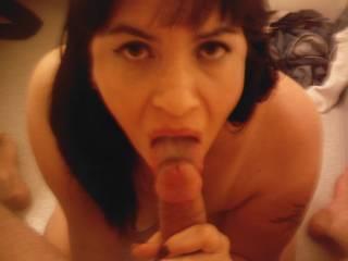 Shayne Swallows sucking off her (her man)...:)