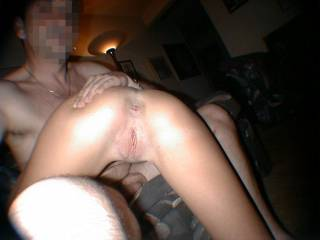 Hubby showing you my freshly fucked ass and pussy...