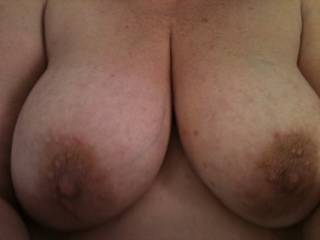 Beautiful boobs! Giant figs with nipples.  Hours and hours of sucking pleasure.