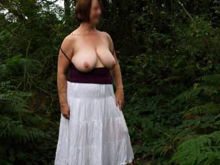 love the outdoors photos..nice to see tits set free.
