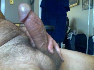Hot photo of a nice thick cock! Love to see more pics posted!