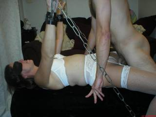 oh my god yes she still is fuckable at that age fuckable I love seeing her little pussy wrapped around my cock even better cuz she's bent over and tied up I could give her a good dose of long deep cock
