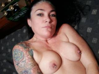 Very sexy, great tits and sensational nipples. A real turn on.