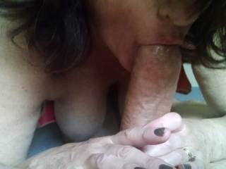 Loving a nice tasty cock, anyone want to help take it all the way?