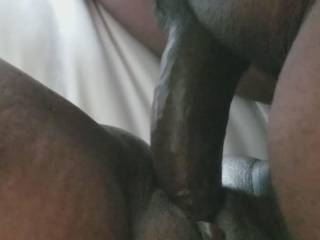Ever so often this Friend-with-benefits convinces me to come over and help her get the edge off with a good pounding. Here you see me sliding in asn out her warm and very wet cunt. It felt so good, I tell you.