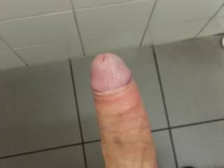 dick shot at work