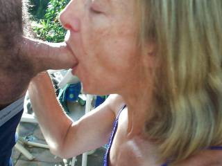 Mature fantastic cock sucker Lasma works on my tool.