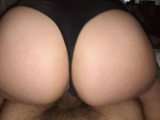 That juicy ass creaming on my dick