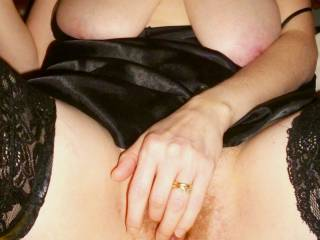 Will you be gentle with my large boobs and hairy pussy?