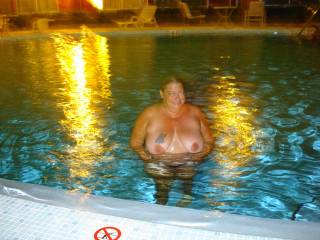 Great pool surprise. Want to lick you dry
