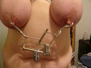 tits tied and weighted