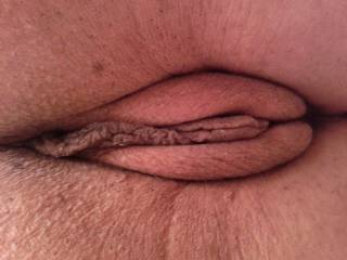 Close up of my wife\'s delicious pussy. Doesn\'t it look yummy?