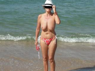 Hi from Melbourne.  With or without bikini, you are an amazing looking lady